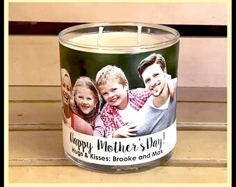 Mother's Day Candle Personalized Photo Candle for Mom Custom Candle For Mom Custom Mothers Day Gift Mom Birthday Candle Mother's Day Gift