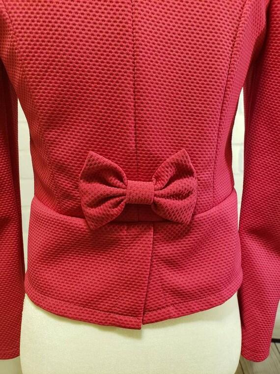 Hot pink and Black floral Blazer Jacket - image 4
