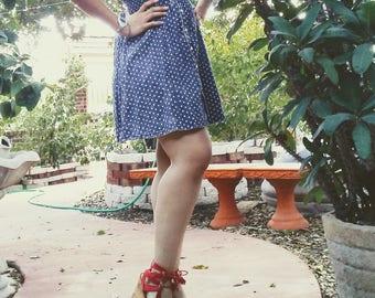 Jean Polka-Dot Dress