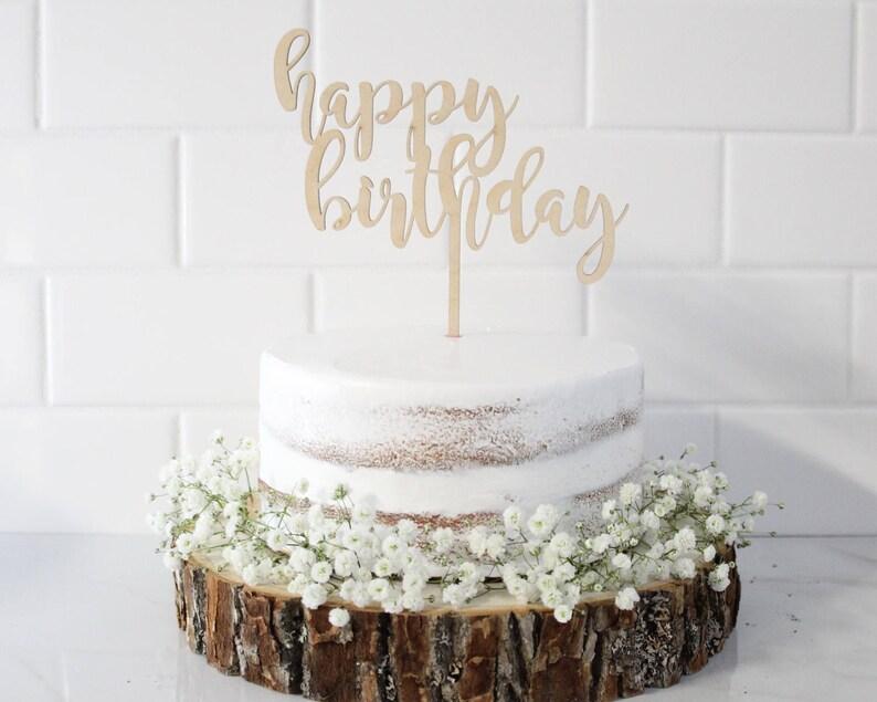 Happy Birthday Toppers Birthday Cake Topper Custom Cake Etsy