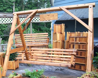 Cedar Porch Swing | Etsy