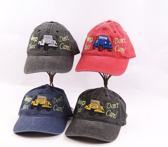 Jeep Hair Don t Care Hat Jeep Hair Cap Personalized Hat  8be180e3310