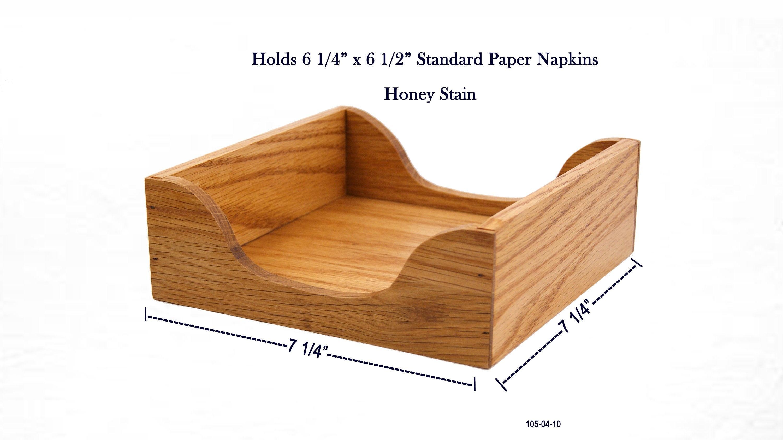 Oak Dinner Napkin Tray Paper Napkin Holder Napkin Box Napkin Dispenser Wooden Napkin Holder Country Napkin Box Kitchen Napkin Tray
