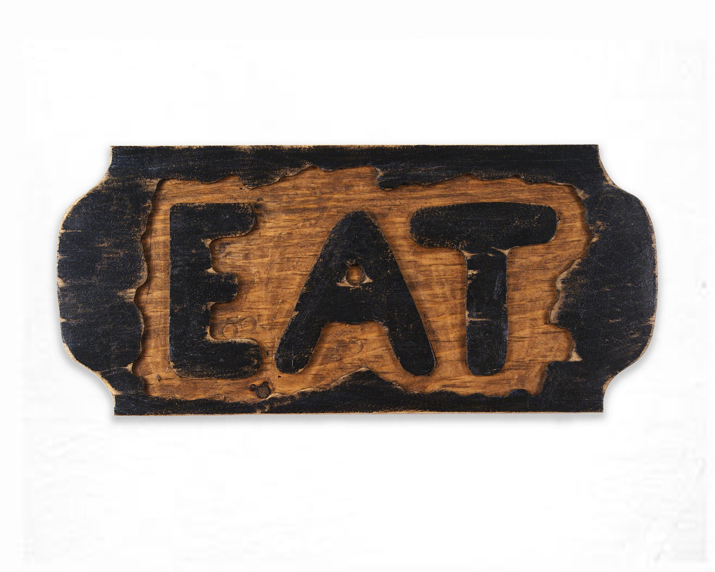 Eat Sign Reclaimed Wood Wall Hanging Rustic Wall Hanging