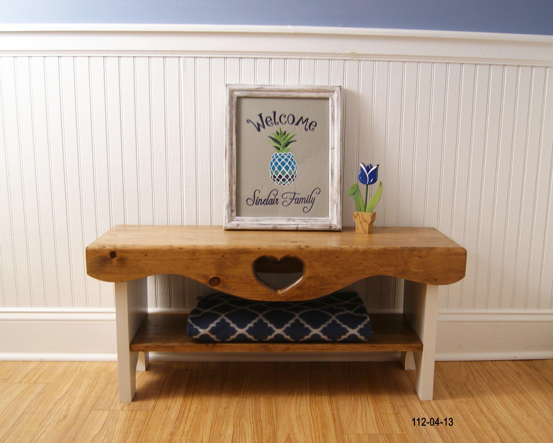 Remarkable Farmhouse Bench Bedroom Bench Shaker Bench Heart Bench Ibusinesslaw Wood Chair Design Ideas Ibusinesslaworg