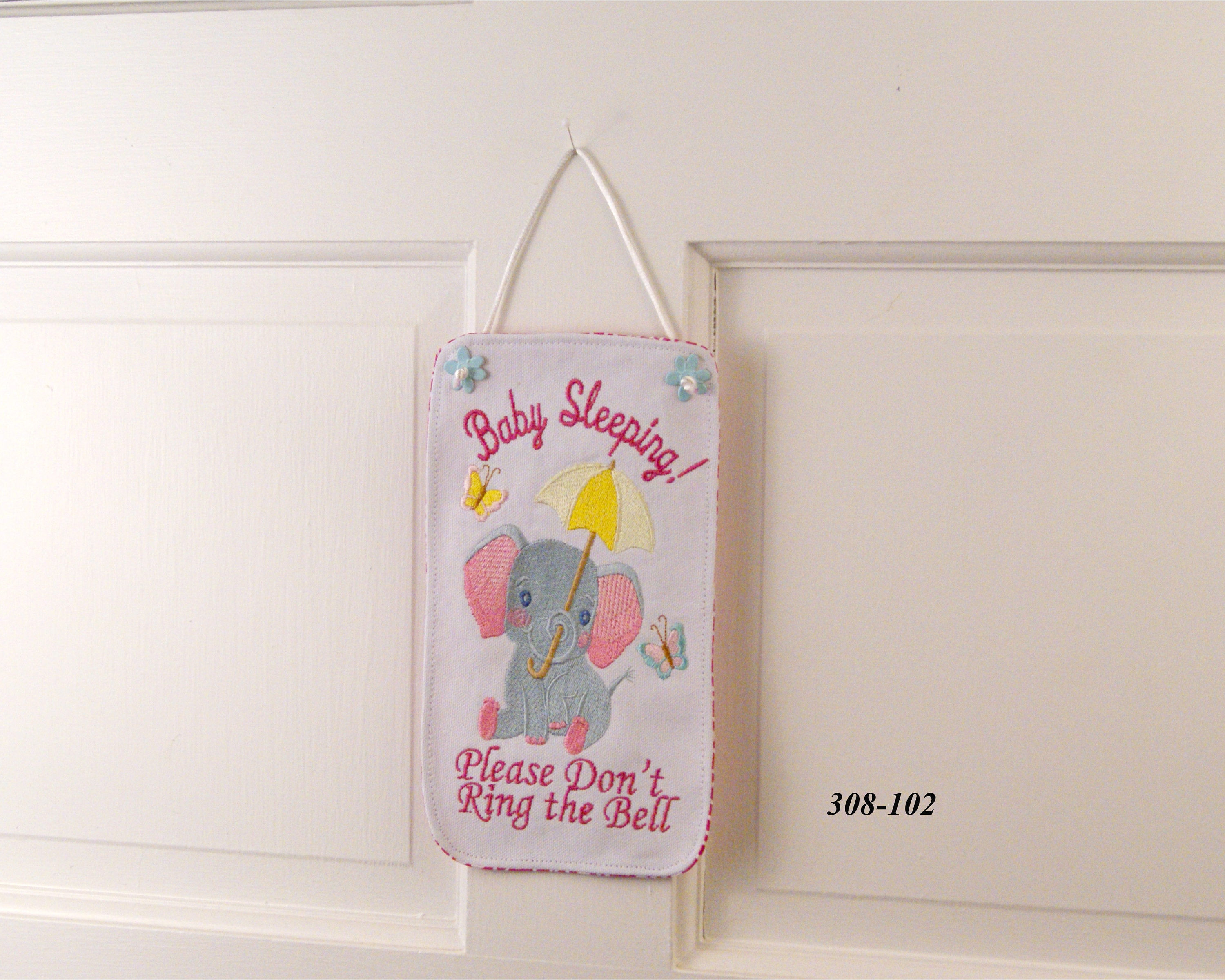 Baby Sleeping Banner Please Don T Ring The Bell Baby Banner Baby Wallhanging Baby Decor Baby Shower Gift Baby Elephant