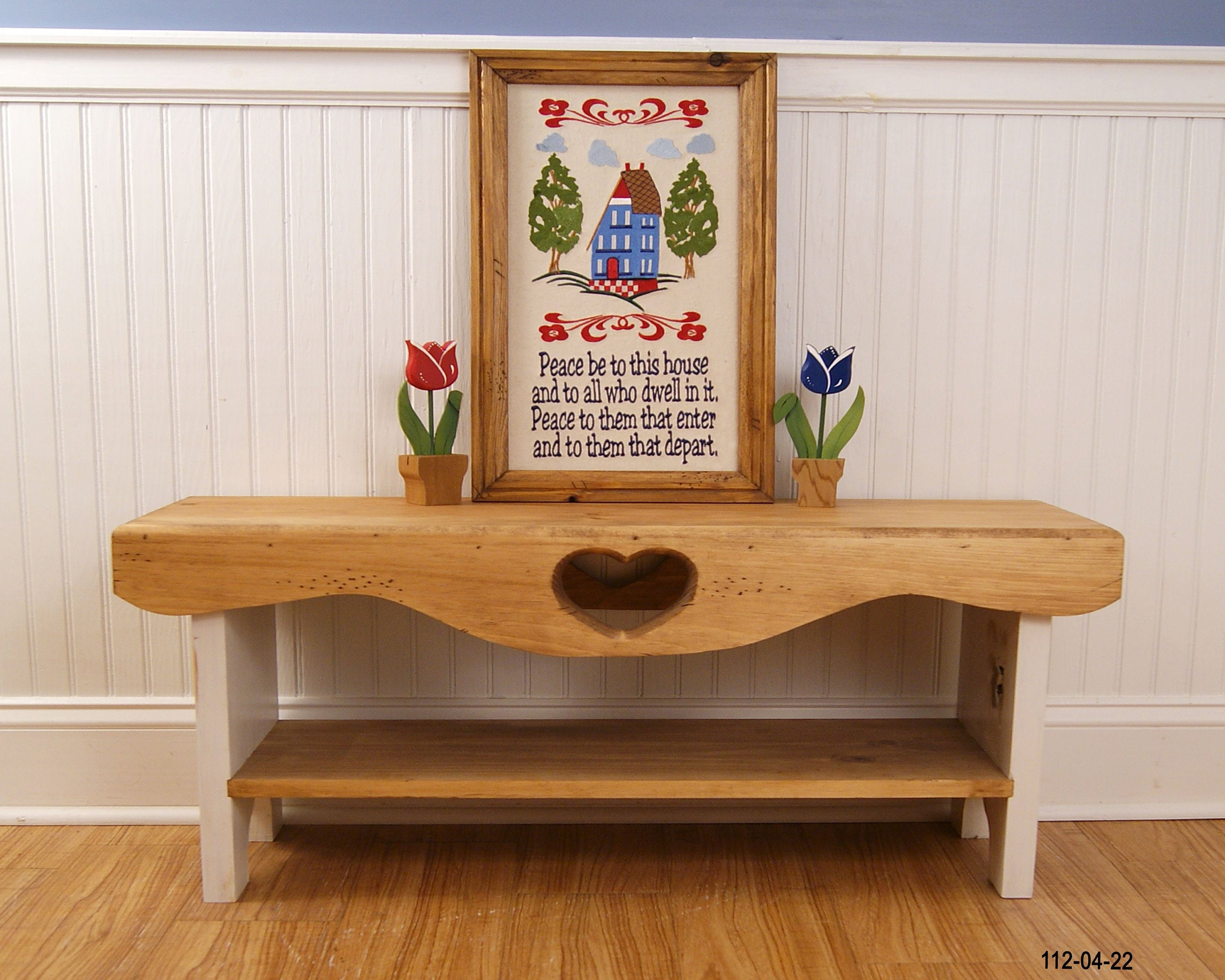 Bedroom Bench Farmhouse Bench Shaker Bench Heart Bench Bench With