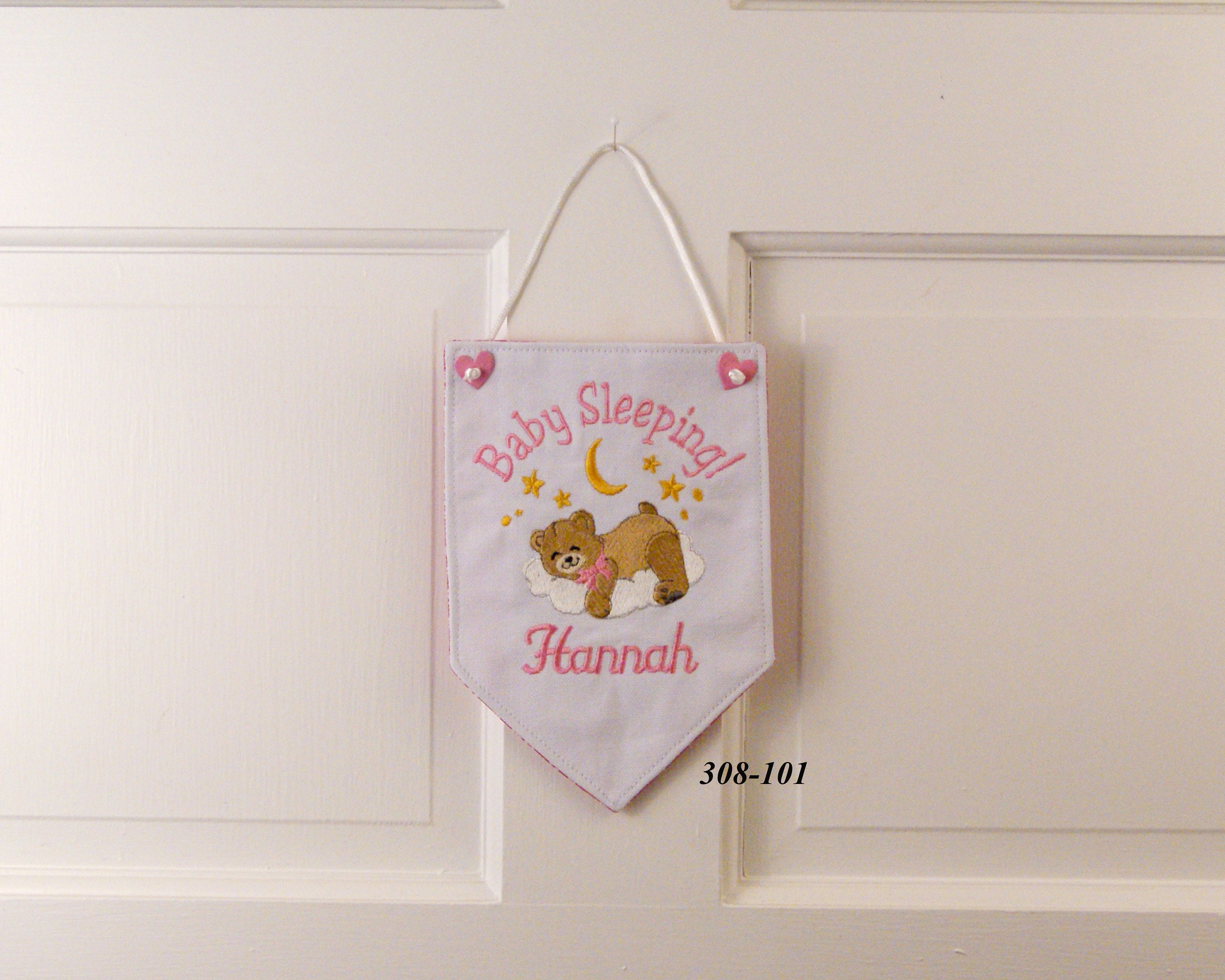 Baby Sleeping Banner Baby Banner Baby Wallhanging Baby Decor Baby Shower Gift Baby Bear Baby Girl Gift Baby Boy Gift Baby Gift