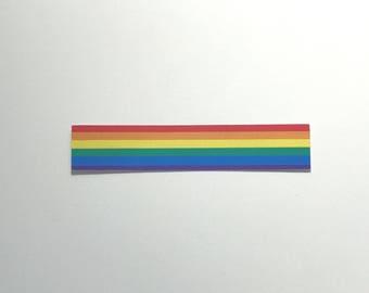 Rainbow Stripe Pride Sticker