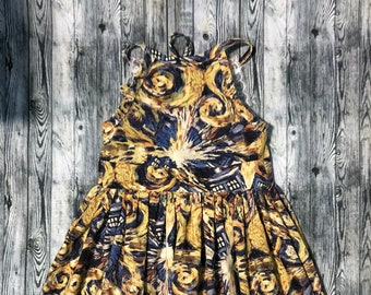 Doctor Who Exploding Tardis Girls Dress - Size 2T - READY TO SHIP - Free Shipping