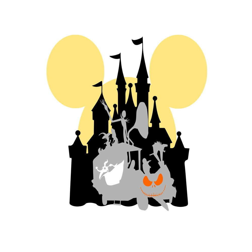 Nightmare before Christmas Castle Silhouette SVG Halloween SVG | Etsy