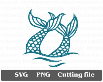Double Mermaid Tail SVG png eps dxf Cut File & Clipart Cricut Design Silhousette Cameo printable mermaid vector file mermaid tails