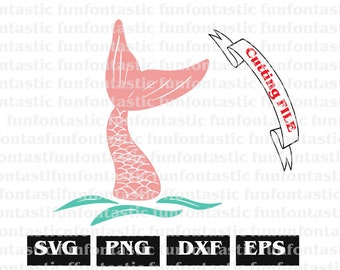 Pink Mermaid Tail SVG png eps dxf Cut File & Clipart Cricut Design Silhousette Cameo printable mermaid vector file mermaid tails