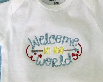 Welcome to the world onesie