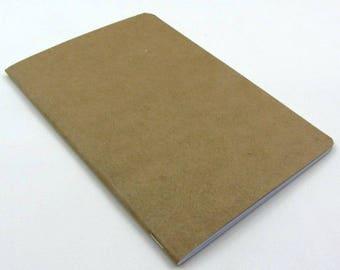 Planner A. Craft-Checkered Notebook cover Kraft