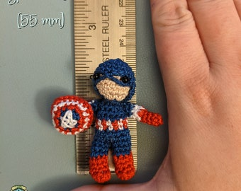Tiniest Captain America - Crochet Amigurumi Friend