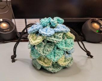Dragonscale Crochet Dice Bag