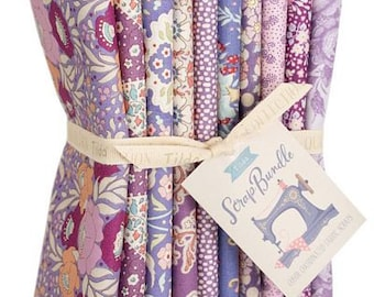 Preorder! TILDA SCRAP Purple/Lavender/Mauve Fat Quarter Bundle   Tilda Basic Quilting Fabric Bundle   10 Fat Quarters   Gift
