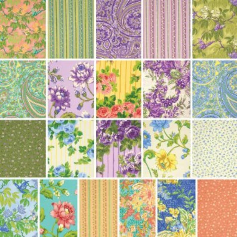 Layer Cake April Cornell Glorious Garden 10x10 Squares Precuts Gift Quilting Cotton
