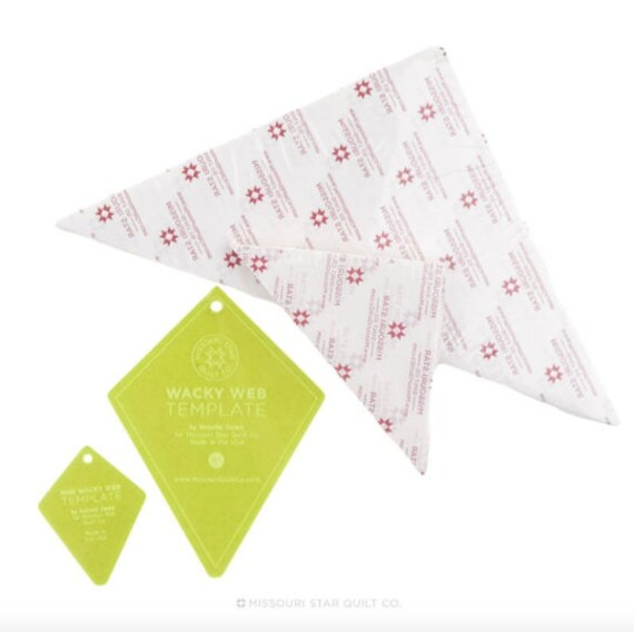 periwinkle template triangle piecing papers bundle wacky etsy