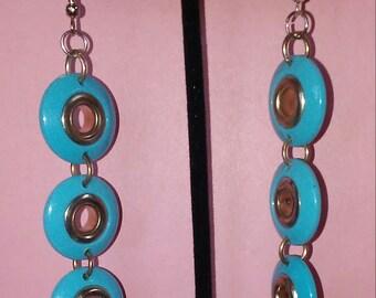 Tri Circles dangle earrings.