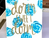 Items Similar To Dorm Decor Dorm Sweet Dorm Hand Painted Dorm