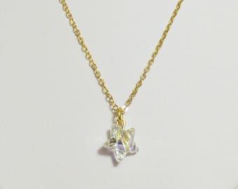 Swarovski Crystal Star Gold Chain Dainty Necklace