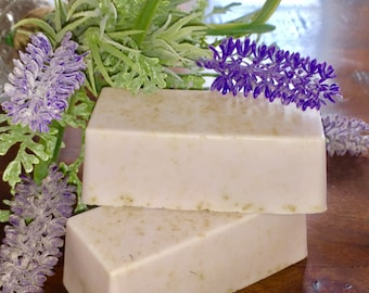 Relaxing Oatmeal Lavender Goats Milk Soap