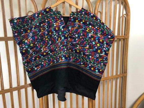 Vintage embroidered huilipil, vintage Guatemalan t