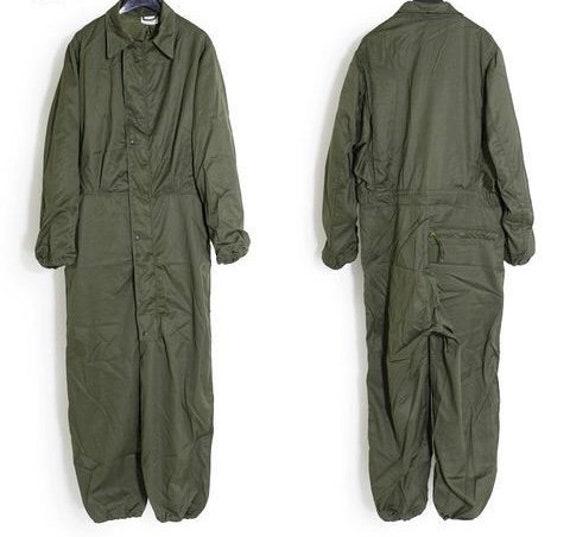 Vintage Army jumpsuit, olive green romper, vintage