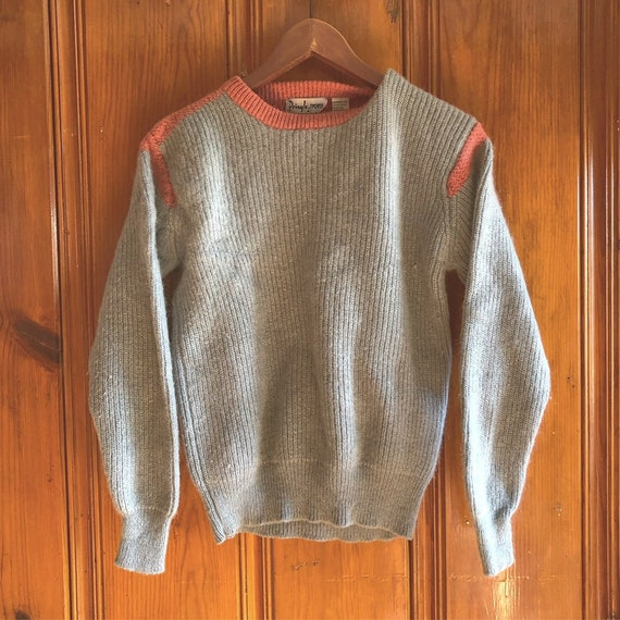 Vintage mohair and wool sweater , color block, vin