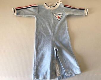 Vintage Healthtex space jumpsuit in velour size 9 months