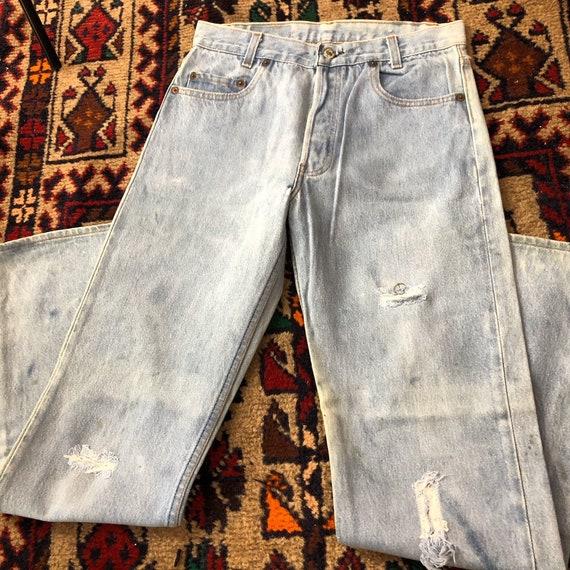 Vintage rare 701 Levis, vintage Levis, distressed