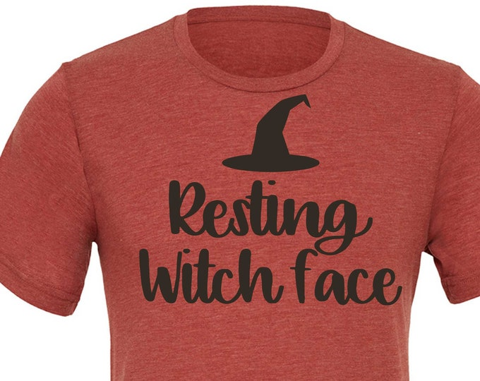 Resting Witch Face Shirt , Funny ladies witch shirt , witch costumes , unisex t-shirt, women's clothing, tops and tees , shirts , tee