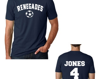 Soccer Dad Shirt / mens custom soccer tshirt / soccer mom and dad tshirts / unisex last name jersey number youth soccer tshirt /