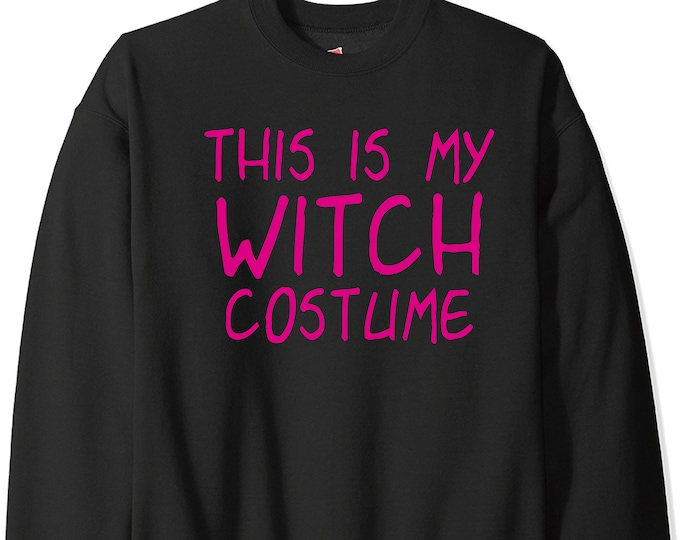 This is my Witch Costume sweatshirt , purple , hot pink witch costume, womens shirts , plus size clothing, womens witches shirts , t-shirts