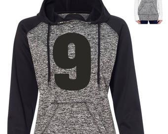 Hockey Mom Sweatshirt Pullover hoodie . womens custom jersey number sweatshirt. Ladies hockey Sweater jersey number with thumbholes .