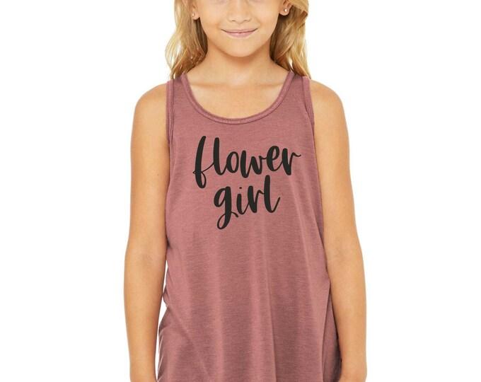 Flower Girl tank top , cute gift for flower girl , Flower girl shirt, bella flower girl tank , bridesmaid gifts, mauve rose flowergirl shirt
