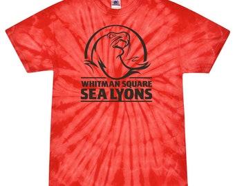 Adult Unisex Red Swirl Tie Dye Shirt