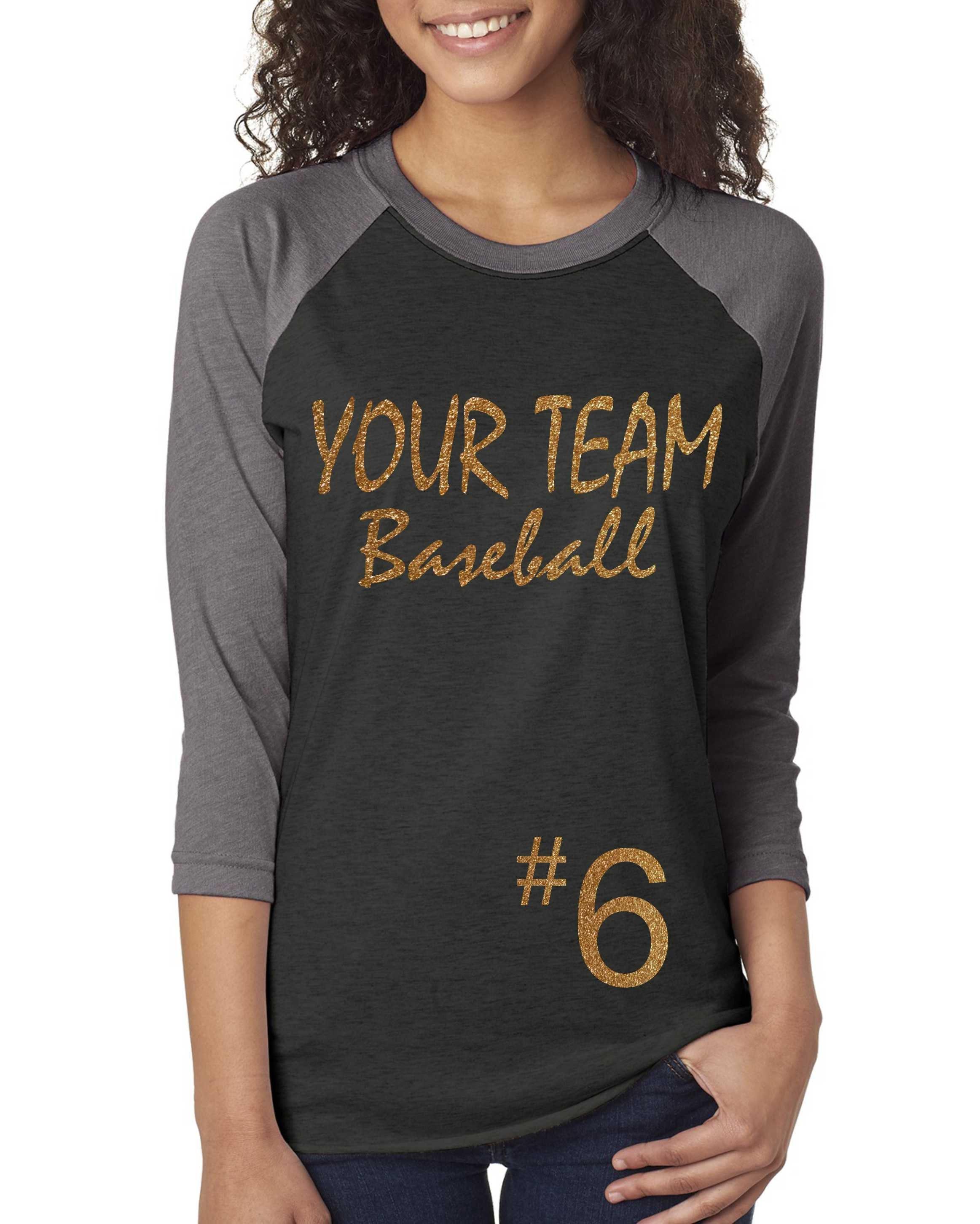 Custom Baseball Team Name shirt / Womens Baseball Shirt ...