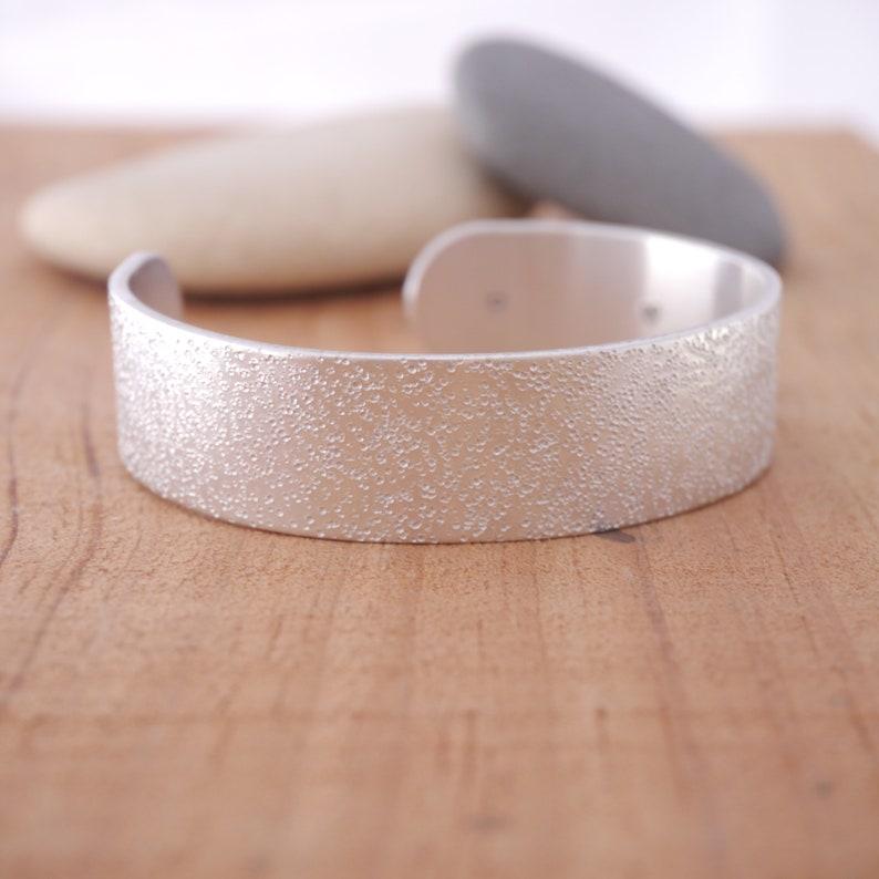 Starfish Cuff Bracelet SILVER Textured Bridal Party Beach Wedding Jewelry Sand