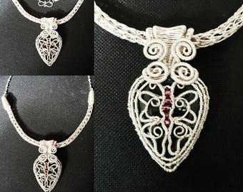 Starlight butterfly statement neckline piece
