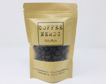 CoffeeNerds • Micro Roasted Coffee Sampler • Gourmet Coffee Gifts • Coffee Lover • Arabica Whole Bean • Gift for Him or Her • C8H10N4O2