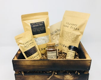 Wood Smoked BBQ Seasoning Gift Box Set • Foodie Gift for Men • Outdoor Grilling Gift • Fathers Day • Dad Gift