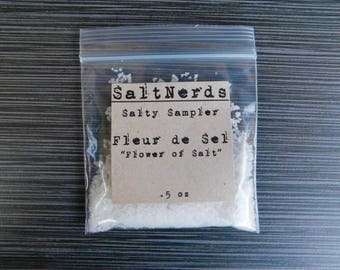 "Fleur de Sel ""Flower of Salt"" • SaltNerds Salty Sampler • .5 oz"