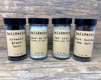 SaltNerds Shakers Collection • 4 Essential Sea Salts