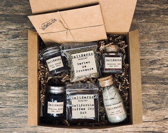 Gourmet SaltNerds Gift Set with Coffee Dry Rub and Herb Samplers
