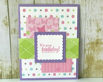 Birthday card, greeting card, friend birthday, birthday gift, sister birthday card, personalized birthday card, birthday card for girls