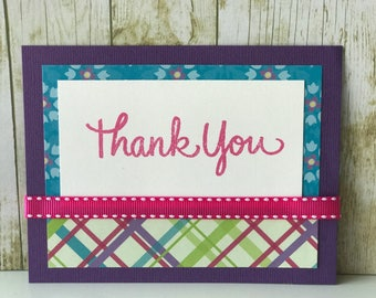 Thank you card, greeting card, thank you note,  personalized thank you card, teacher thank you card, thank you gift, appreciation card