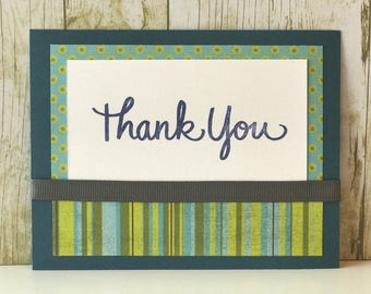 Thank you card, greeting card, thank you note,  personalized thank you card, thank you card for men, thank you gift, appreciation card
